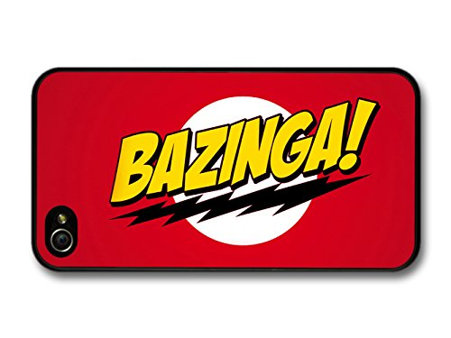 Big Bang Theory Bazinga! Illustration Red Background coque pour iPhone 4 4S, Coques iphone