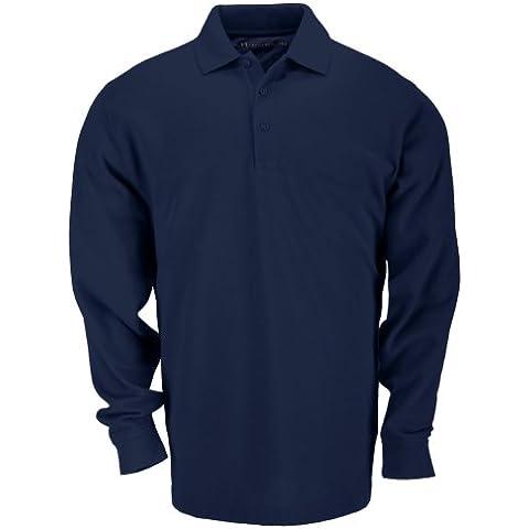 5.11Tactical profesional-Polo de manga larga para hombre, camiseta, color Azul - Marine Foncé, tamaño