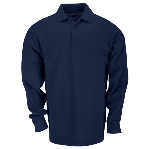 5.11 Tactical Professionnel Polo Manches Longues Homme, Marine Foncé, FR (Taille Fabricant : XXL)