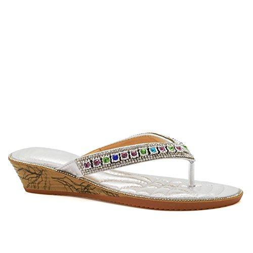 London Footwear , Ouvertes à larrière femme silver