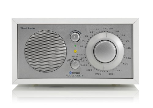 Tivoli Model One Bluetooth UKW-/MW-Radio in Weiß/Silber (Cd-radio-tivoli)