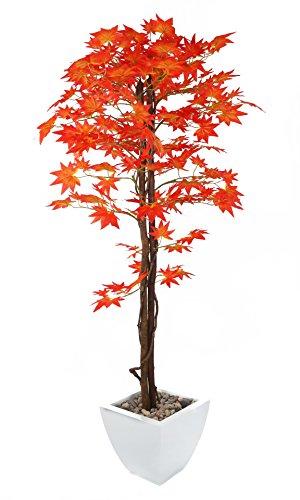 Closer To Nature Kunstpflanze Japanischer Ahornbaum,künstliche Pflanze aus Seide, rot, 48,6 cm, rot, 152 cm (Künstliche Pflanze Japanische)