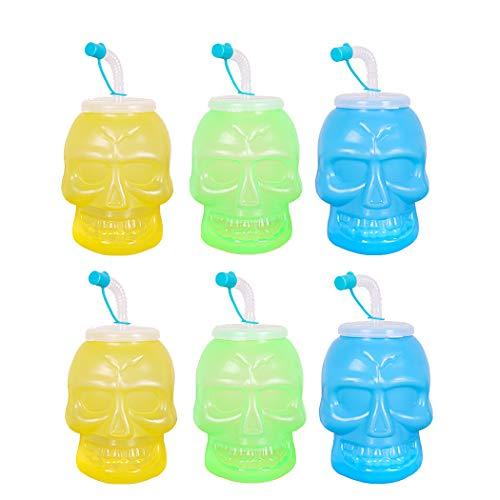Joyibay 6 STÜCKE Stroh Tasse Kreative Neuheit Stroh Sippy Cup Baby Strohflasche für Halloween