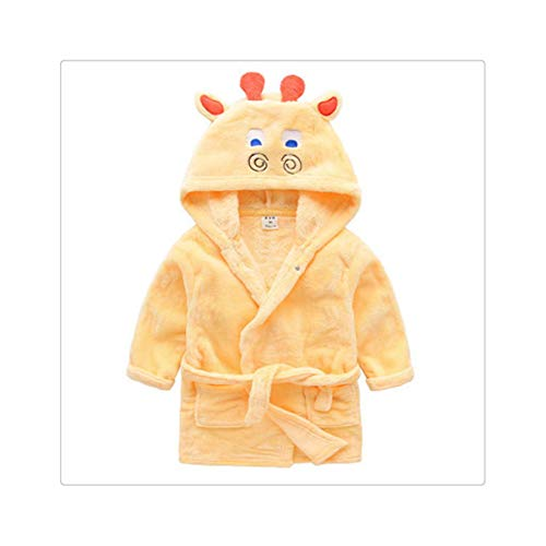Flannel Cartoon Animal Shape Cosplay Boy Child Girl Bathrobe Baby Pajamas Home Service Halloween Party Gift 08 7T ()