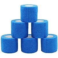 Fuluning kohäsive Bandage selbstklebend Bandage Rolle Flexible Bandage Vlies kohäsive Athletic Tape blau 5 cm... preisvergleich bei billige-tabletten.eu