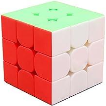 HJXDtech @ cubo juguete educativo Nuevos MF3s No mates Adhesivos superficie profesional Cubo Mágico 3x3x3 Puzzle 3D velocidad para adultos o niños