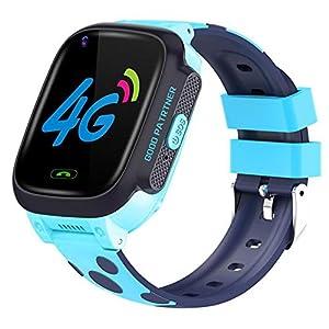 circulor Kinder Smartwatch Telefon Uhr, Y95 Kinder-Smartwatch HD-Videoanruf 4G Voll Netcom Mit AI Zahlung WiFi-Chat-Uhr Für Kinder, Pink/Blau