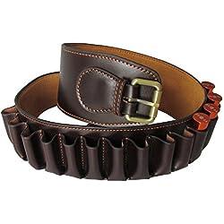 tourbon Genine piel cinturón para canana láser de escopeta calibre 12carcasa soporte