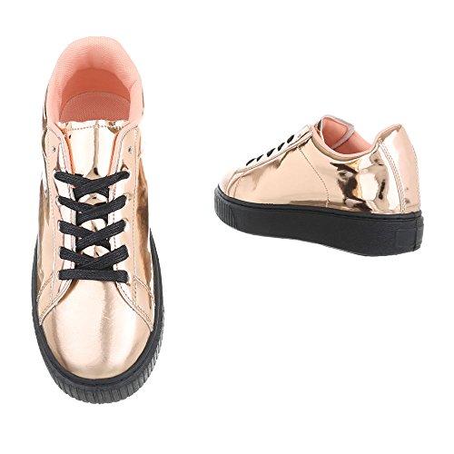 Ital-Design - Pantofole Donna Rosa Gold KK-66