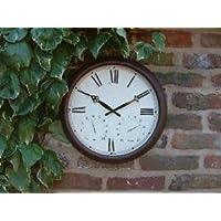 Horloge d'Extérieur Tradition - Thermomètre Hygromètre – 38cm