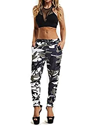 636a08f77b5a11 Women's Fashion Casual Pants, Newest Women Girls Camouflage Printed Sports  Camo Cargo Pants, Outdoor