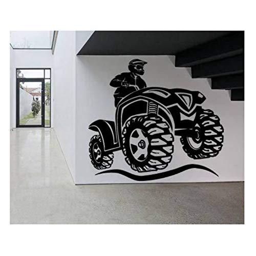 Lkfqjd Wandaufkleber Neue StilMotorrad Bike Sport Kinder Jugendliche Jungs Jungen Schlafzimmer Wanddekor Garage Wandtattoos Tapeten 121 * 110 Cm