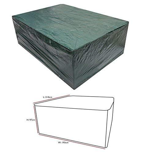 elitezotec Neuf Medium Ovale de mobilier de Jardin Capot étanche Durable Polyéthylène résistant aux déchirures Coque extérieur
