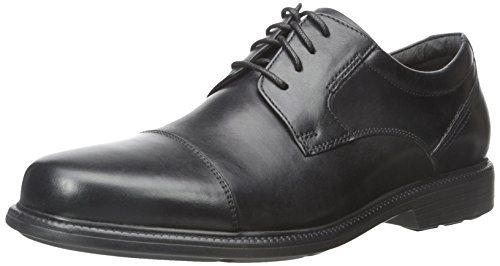 Rockport Men's Charles Road Cap Toe Oxford Black Leather 9 M (D) Cap Toe Oxford Cap
