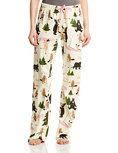 - 419plDm6UeL - Hatley Women's Book Animals Bear Jersey Pyjama Bottoms