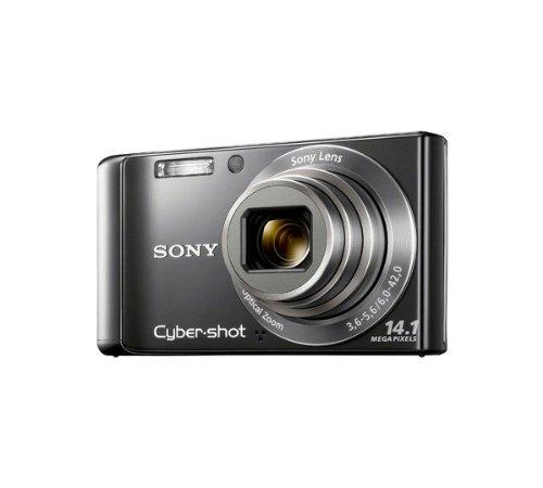Sony DSC-W370 Digitalkamera silber Cybershot mit HD-Video und optischem 7-fach Zoom W-370 DSCW370, Silber