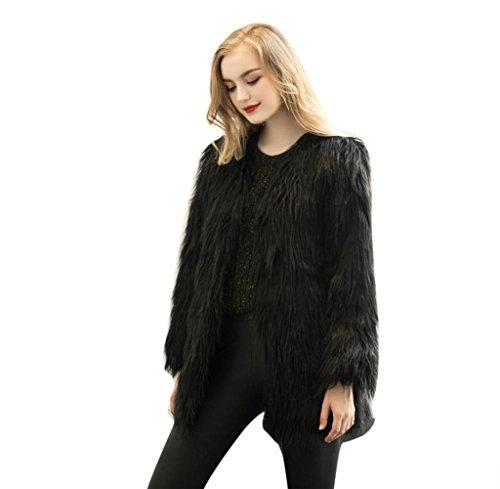 8cac0cb62f9 Tongshi Nuevas mujeres de las señoras caliente de piel sintética de Fox  chaqueta de la capa