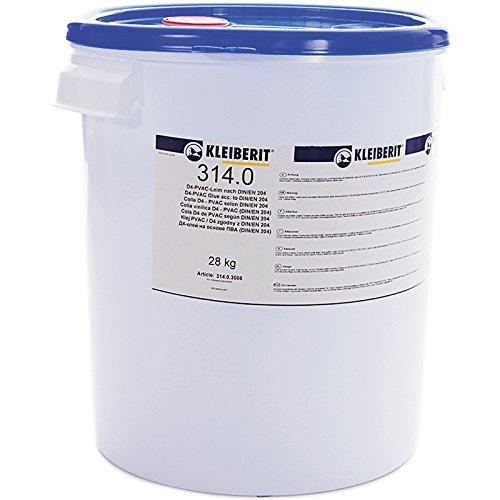 28-kg-Eimer D4-Leim Holzleim wasserfest 1K KLEIBERIT 314.0 Weißleim Weissleim gebrauchsfertig (Keilzinken)