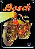 Blechschild Bosch Motorrad Werbung Postkarte / Minischild