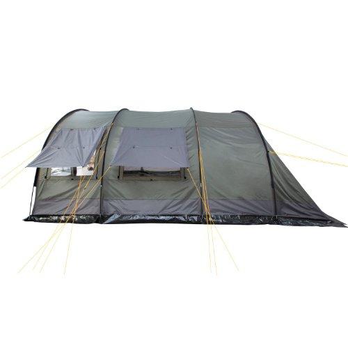 CampFeuer - XXL Tunnelzelt, 2 Kabinen, 6 Personen, olivgrün-grau, 5000 mm WS - 4