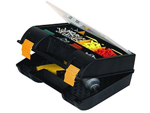 Stanley Maschinenkoffer / Werkzeugkoffer mit Organizer (36x14x33cm, Koffer für Elektrowerkzeuge, mit Schaumstoffeinlage für besseren Halt, Werkzeugbox mit Öse für Vorhängeschloss) 1-92-734