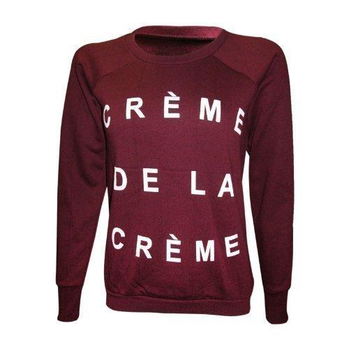 XpoZed Moda Womens Creme De La Creme Print Sweatshirt Jumper ...
