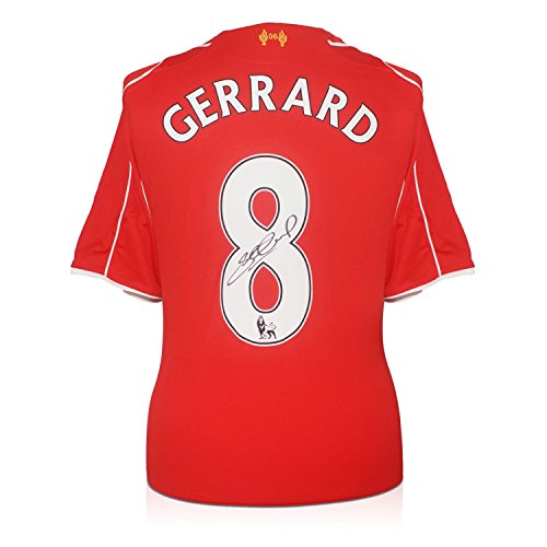 Steven Gerrard Signed Liverpool Home Shirt 2014-15