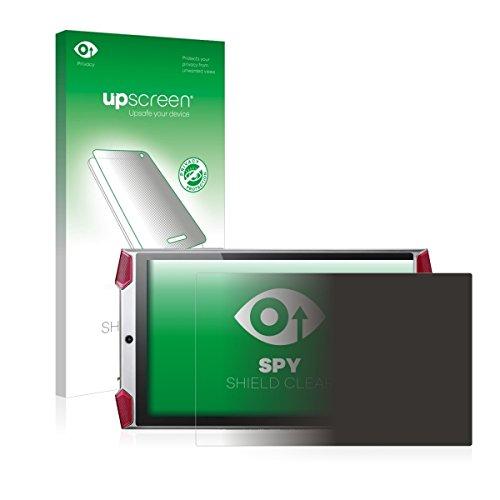 upscreen Spy Shield Clear Blickschutzfolie / Privacy für Acer Predator 8 (Sichtschutz ab 30°, Kratzschutz, selbstklebend)