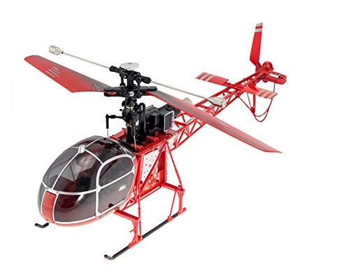 RC Helikopter MT250 Lama, SA-315 Lama Luftrettung,2.4GHz, 4Kanal Hubschrauber (Rc Hubschrauber Single)