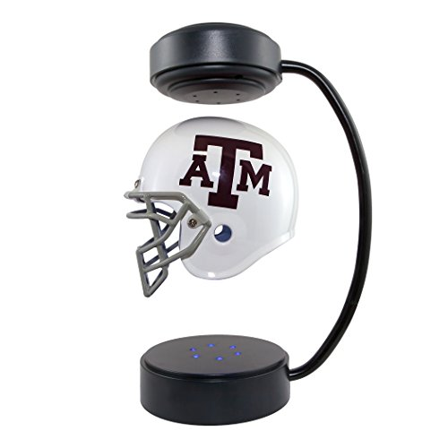 NCAA Hover Helm - Sammlerobjekt schwebender Fußballhelm mit elektromagnetischem Ständer, Herren, Texas A&M Aggies, 1/2 Scale Replica