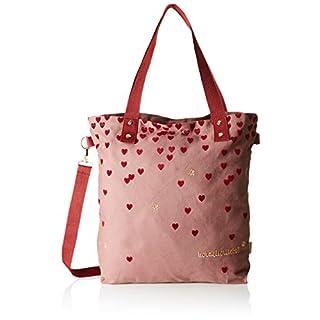 Adelheid Damen Herzallerliebst Einkaufstasche Henkeltasche, Rot (Beerenrot) 10x44x39 cm