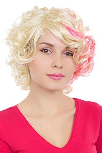 ockige Haare blond pink GFW961-613TF2315 (Kurze Pinke Perücken)