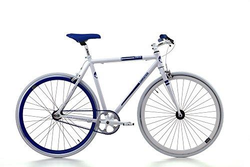 Bicicletta Cicli Cinzia Skinny da uomo, con telaio in alluminio, scatto fisso, ruote da 28', disponibile in due taglie (Bianco, H 59)
