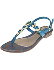GRENDHA - Chaussures Femmes - JOIA IMPERIAL SD FEM - 81268 - brown blue gold