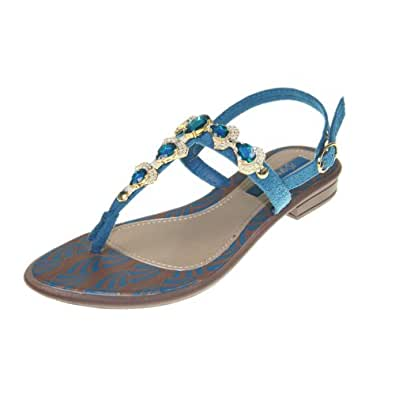 GRENDHA - Chaussures Femmes - JOIA IMPERIAL SD FEM - 81268 - brown blue gold, Taille:37