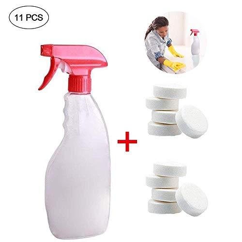 KOBWA - Juego de limpiadores multifuncionales de Aerosol, 1 Botella de Spray, para Limpieza del hogar, Coche, Limpiador de Cristal, 4 Unidades con Botella, 10pcs with 1 Bottle