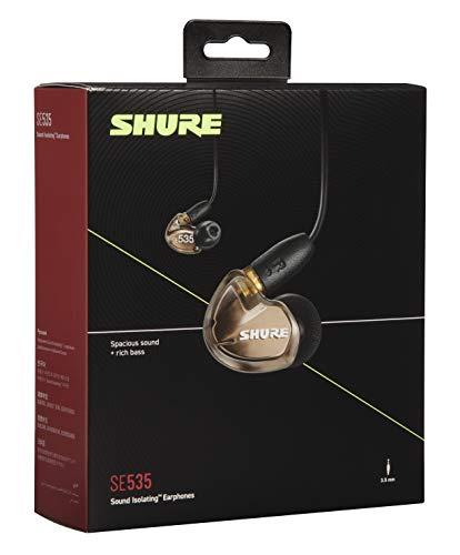 Shure SE535 In Ear Kopfhörer mit Sound Isolating Technologie, 3, 5-mm-Kabel, Fernbedienung und Mikrofon - Premium Ohrhörer mit warmem & detailreichem Klang - Bronze - 4