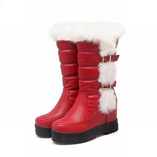 Misssasa Femme Chaussures À Talons Rouges Slip-ons Rouges