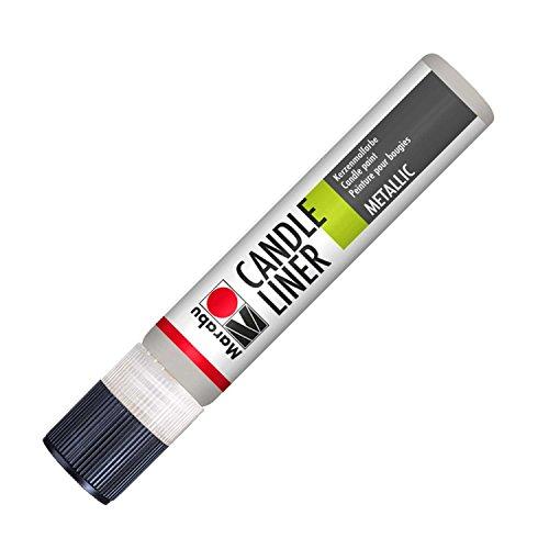 Marabu 180509782 - Candle Liner, 25 ml, Metallic Silber