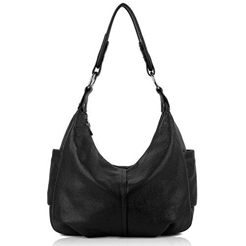 yaluxe-femme-hobo-sac-porte-epaule-bandouliere-cuir-veritable-elegant-grand-capacite-noir