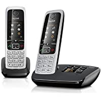 Gigaset C430A Nuisance Call Blocking Cordless Phone with Answering Machine,black(Pack of 2)