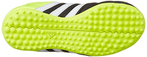 adidas Ace 15.3 TF J Leather, Chaussures de Football Compétition Garçon Multicolore (Black / Green / White)