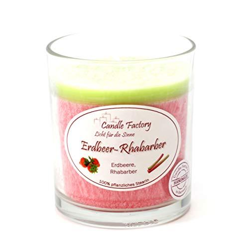 Candle Factory Party Light Kerze Erdbeer-Rhabarber Duftkerze Dekokerze 201-049