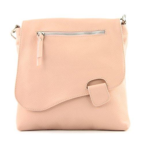 modamoda de -. cuoio ital Borsa da donna Messenger bag borsa a tracolla in pelle borsa NT07 2in1 Rosa
