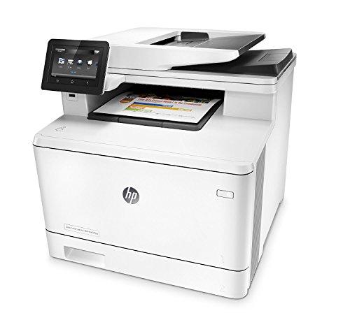 HP MFP M477fdw LaserJet Pro Colour Printer - White + Extra Full Set Of Original HP Toner (Black,C,M,Y 2300 Pages)