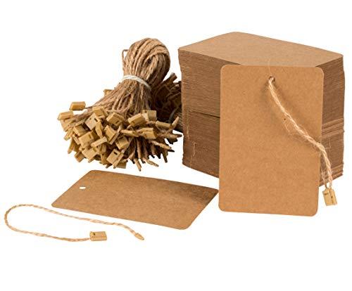 Juvale Etiquetas papel cuerdas sujetadores, mini etiquetas