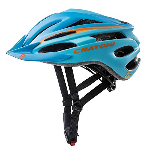 Cratoni Fahrradhelm Helm Pacer, Blue-Orange Matt, Gr. S-M (54-58 cm)