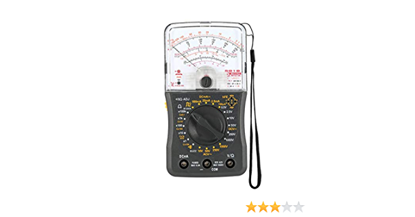 Jessicadaphne Mini Handheld Analog Multimeter Ac Dc Voltmeter Amperemeter Widerstand Durchgangskapazität Sicherung Dioden Tester Drogerie Körperpflege
