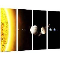 Poster Moderno Fotografico Sistema Solar, Planetas en el Espacio, 131 x 62 cm, ref. PST26737