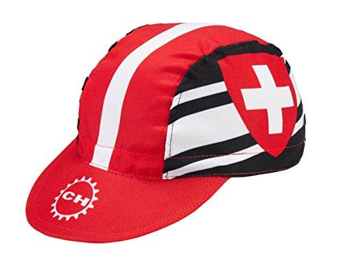 Radmütze Switzerland Rennmütze Retro Mütze
